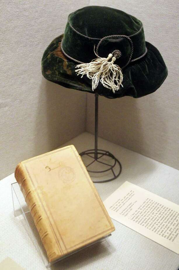 A green Parisian hat on display at the Sam Houston Memorial Museum where many activities will be held to commemorate the 150th anniversary of Sam Houston's death. Photo: Mayra Beltran / © 2013 Houston Chronicle