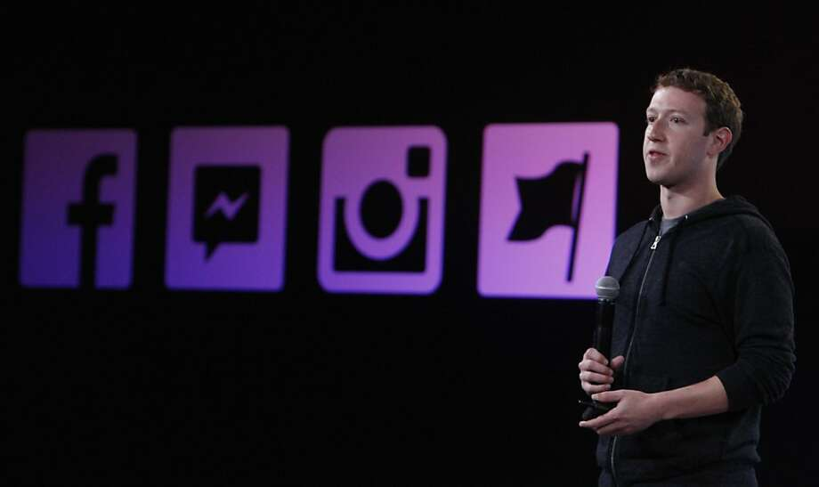 Facebook CEO Mark Zuckerberg in June announces a video-sharing feature for mobile on its Instagram, among the company's new products. Photo: Lea Suzuki, The Chronicle