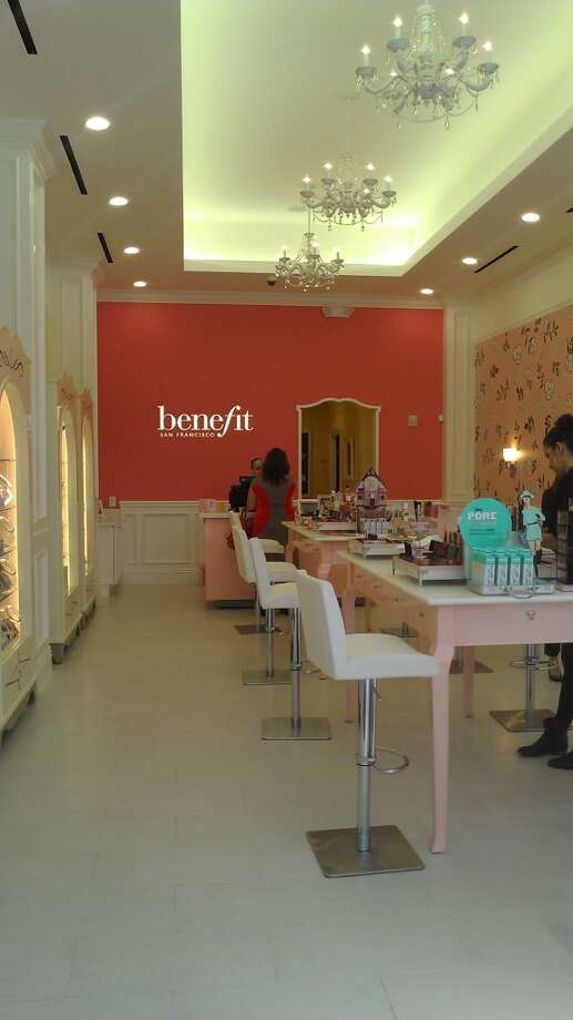 The long and the short of it: the new Benefit store on Sutter Street. Photo: Carolyne Zinko, The Chronicle