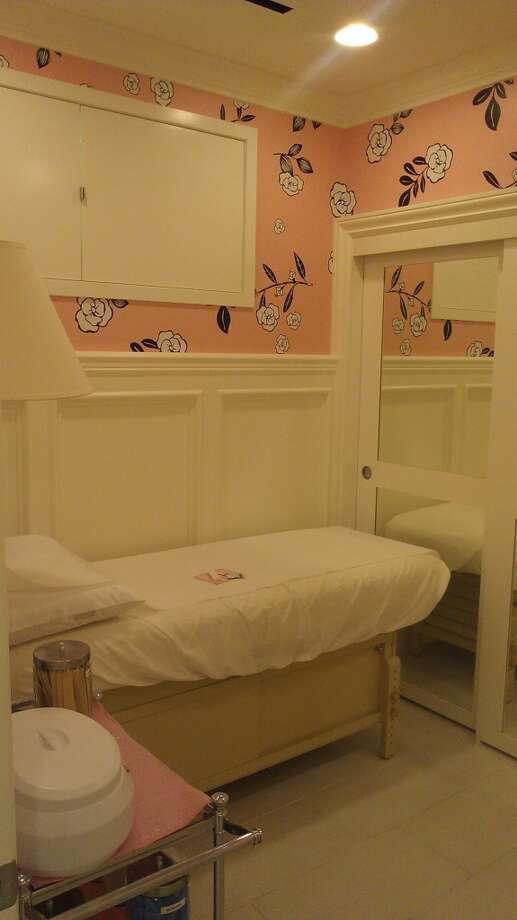 "One of two ""pretty rooms"" where Benefit cosmetics clients can undergo waxing procedures. Photo: Carolyne Zinko, The Chronicle"