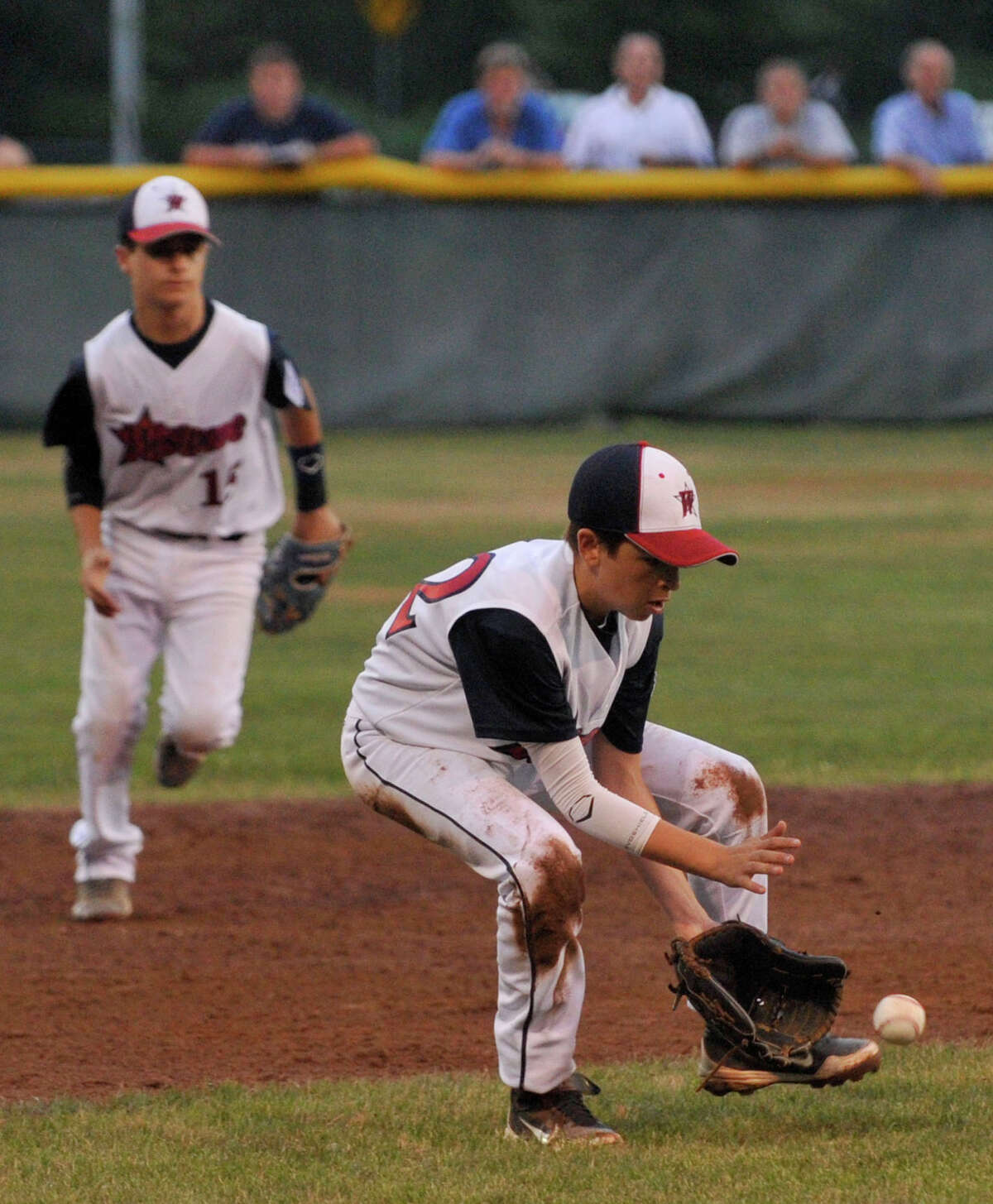 Westport third baseman Alex Reiner fields a ball during their Section 1 Little League Championship game against Edgewood at Scalzi Park in Stamford on Tuesday, July 23, 2013.