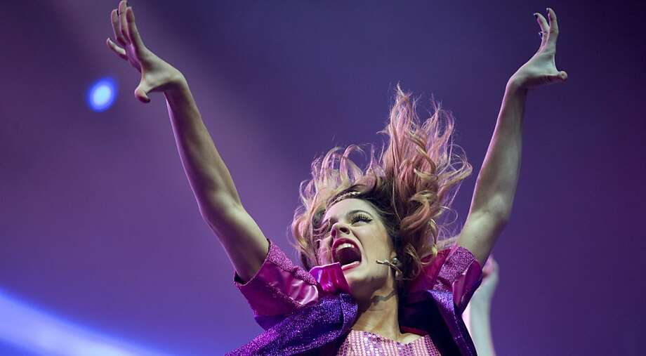 "Disney Channel star Martina Stoessel, of Argentina, performs in concert as ""Violetta,"" her character from the Disney Channel television series of the same name, in Buenos Aires, Argentina, Tuesday, July 23, 2013. (AP Photo/Natacha Pisarenko) Photo: Natacha Pisarenko, Associated Press"