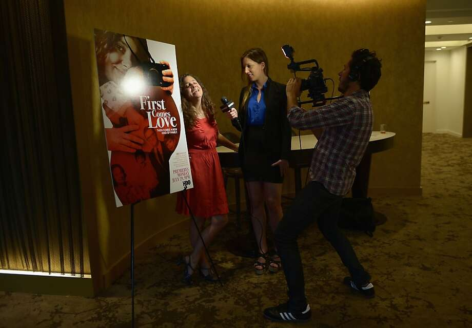 "NEW YORK, NY - JULY 23:  Filmmaker/film subject Nina Davenport is interviewed during the special screening of HBO Documentary ""First Comes Love"" at HBO Theater on July 23, 2013 in New York City.  (Photo by Michael Loccisano/Getty Images for HBO) Photo: Michael Loccisano, Getty Images For HBO"