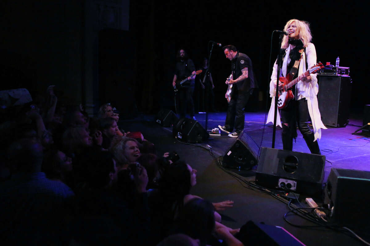 Courtney Love performs at The Moore Theatre.