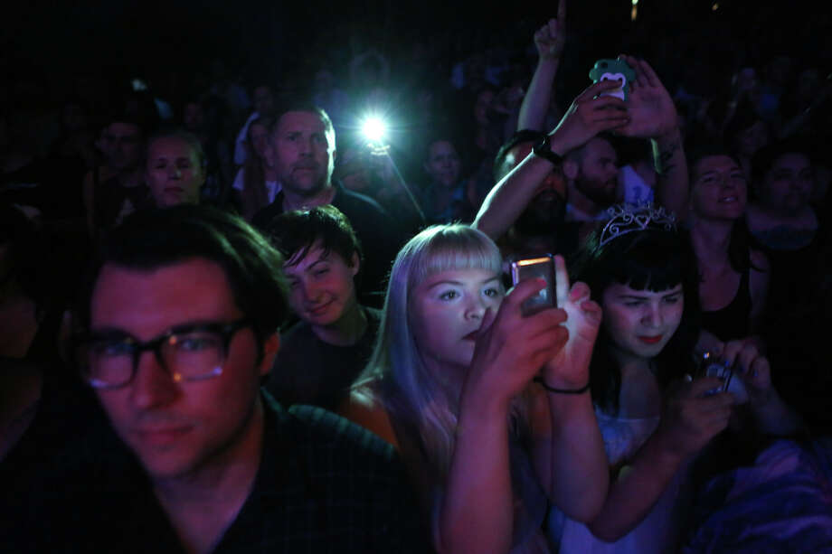Fans watch as Courtney Love performs at The Moore Theatre. Photo: JOSHUA TRUJILLO, SEATTLEPI.COM / SEATTLEPI.COM