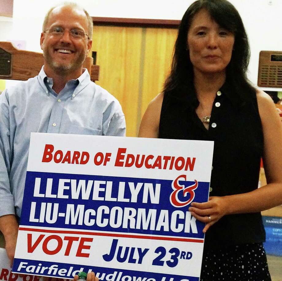 Republicans John Llewellyn and  Eileen Liu-McCormack were endored by GOP voters Tuesday in the party's caucus to select candidates for the November election.  FAIRFIELD CITIZEN, CT 7/23/13 Photo: Genevieve Reilly / Fairfield Citizen
