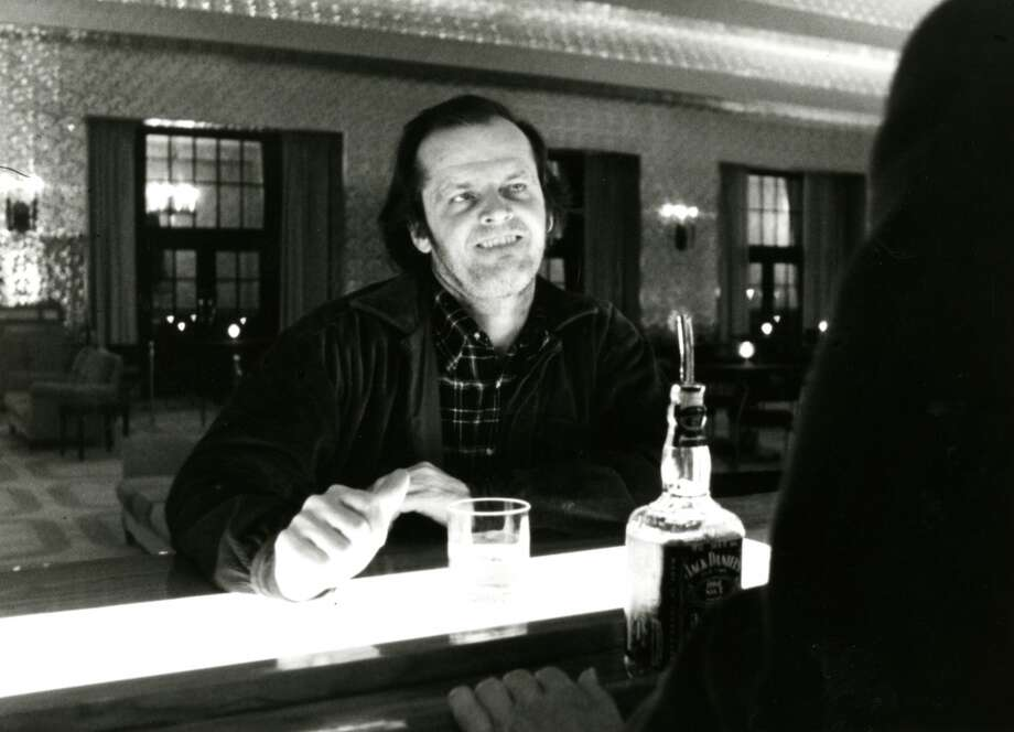 "Jack Nicholson in the 1980 film ""The Shining."""