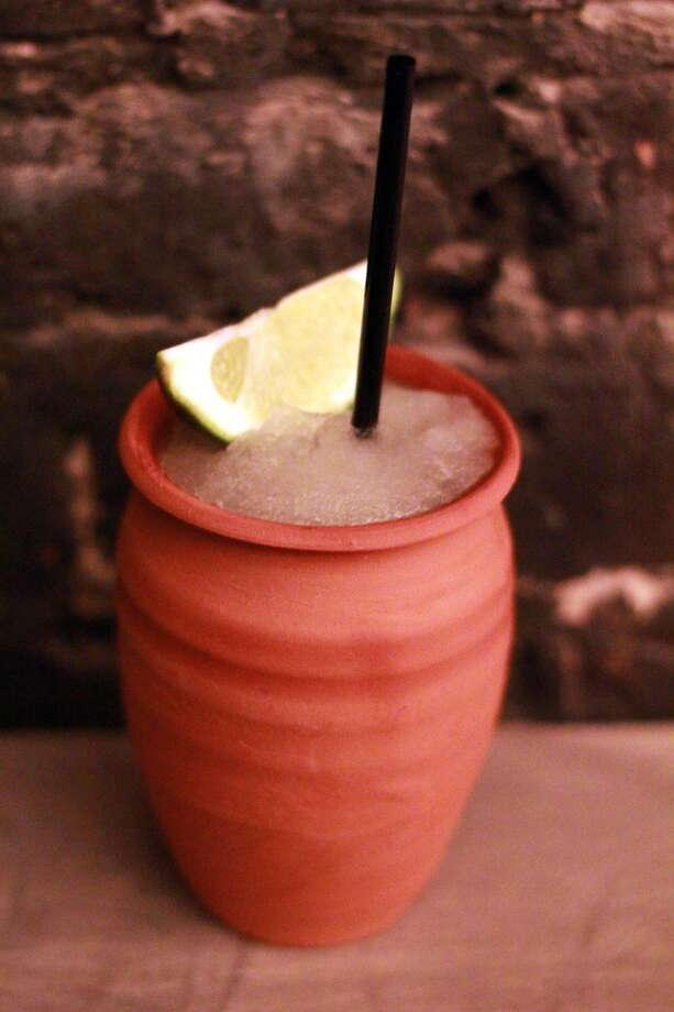 Frozen house margaritas at the Pastry War will be served in clay jarritos. Photo: Alison Cook