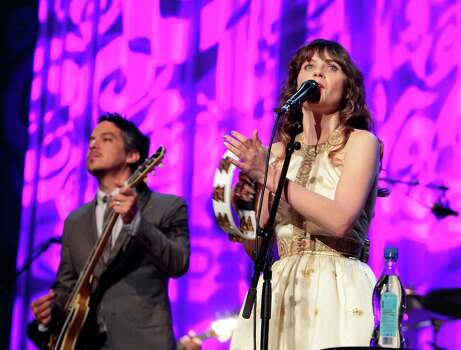 Zoe Deshanel and Matt Ward team up to perform under the name She & Him. Photo: Owen Sweeney, INVL / Invision