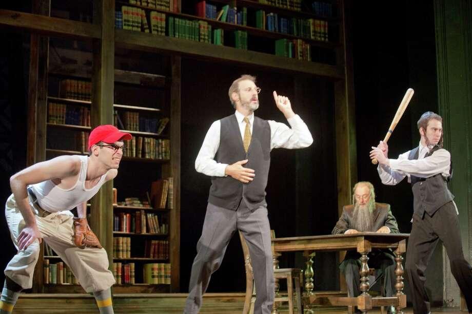 Jeff Cuttler, Richard Topol, Richard Schiff and Ben Rosenbach. Photo by Scott Barrow. / Copyright 2013 Scott Barrow.  All rights reserved.