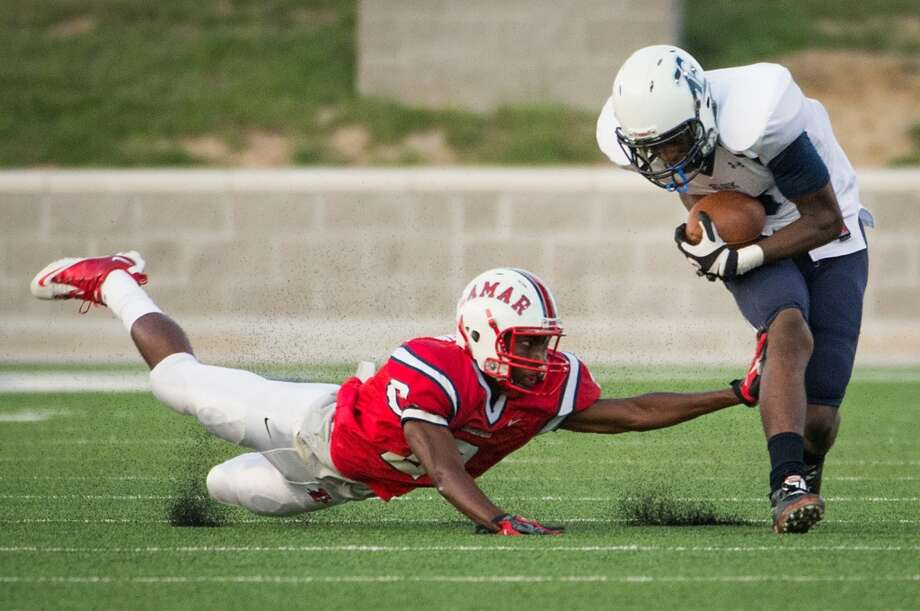 WR Ishmael Zamora  Height/weight: 6-4, 195   High school: Elsik   College: Baylor  Photo: Smiley N. Pool, Houston Chronicle