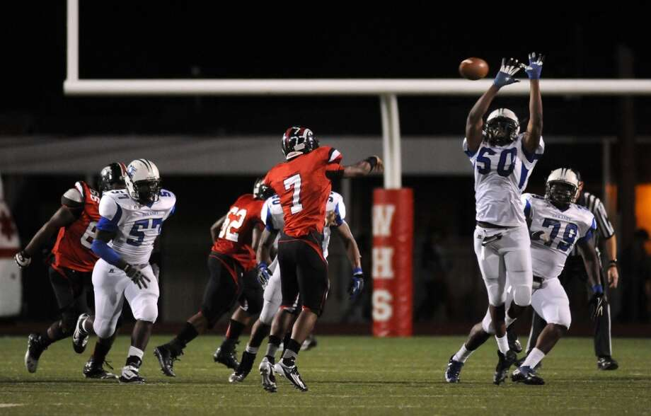 DL Isadore Outing (50)  Height/weight: 6-4, 245   High school: Dekaney   College: Memphis Photo: Jerry Baker, For The Chronicle