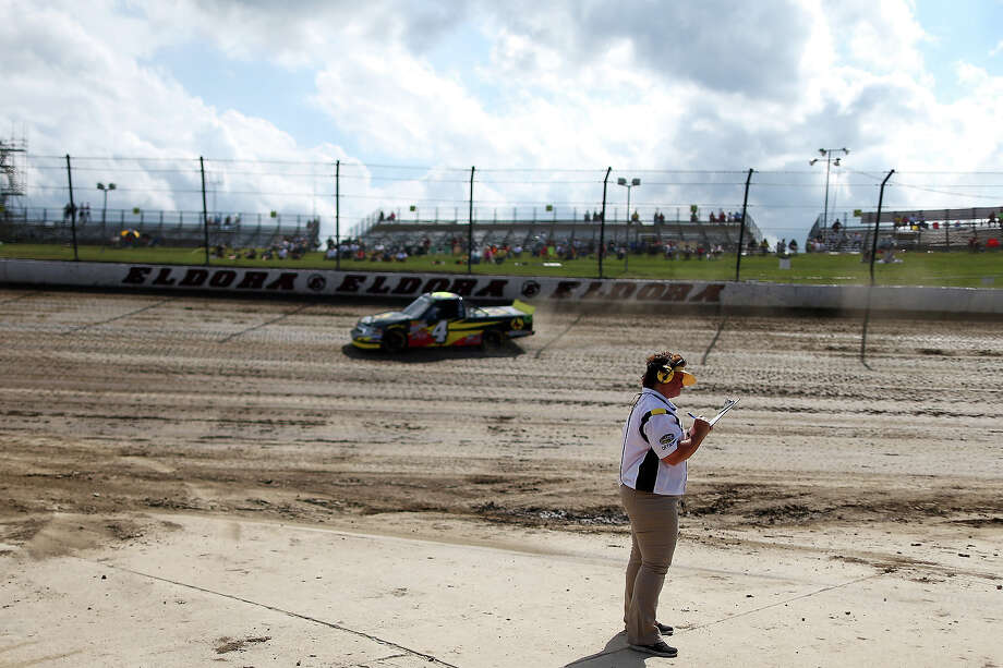 Jeb Burton, driver of the #4 Arrowhead Chevrolet, drives on the dirt suface during practice for the NASCAR Camping World Truck Series inaugural CarCash Mudsummer Classic at Eldora Speedway on July 23, 2013 in Rossburg, Ohio. Photo: Chris Graythen, NASCAR Via Getty Images / 2013 NASCAR