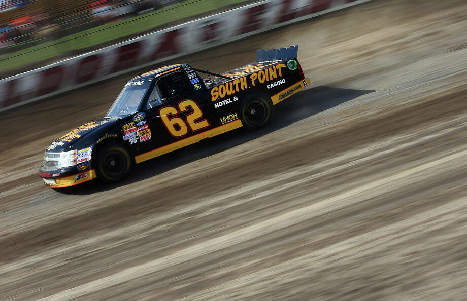 Brendan Gaughan, drives the #62 South Point Chevorlet, during practice for the NASCAR Camping World Truck Series inaugural Mudsummer Classic at Eldora Speedway on July 23, 2013 in Rossburg, Ohio. Photo: Tom Pennington, Getty Images / 2013 Getty Images