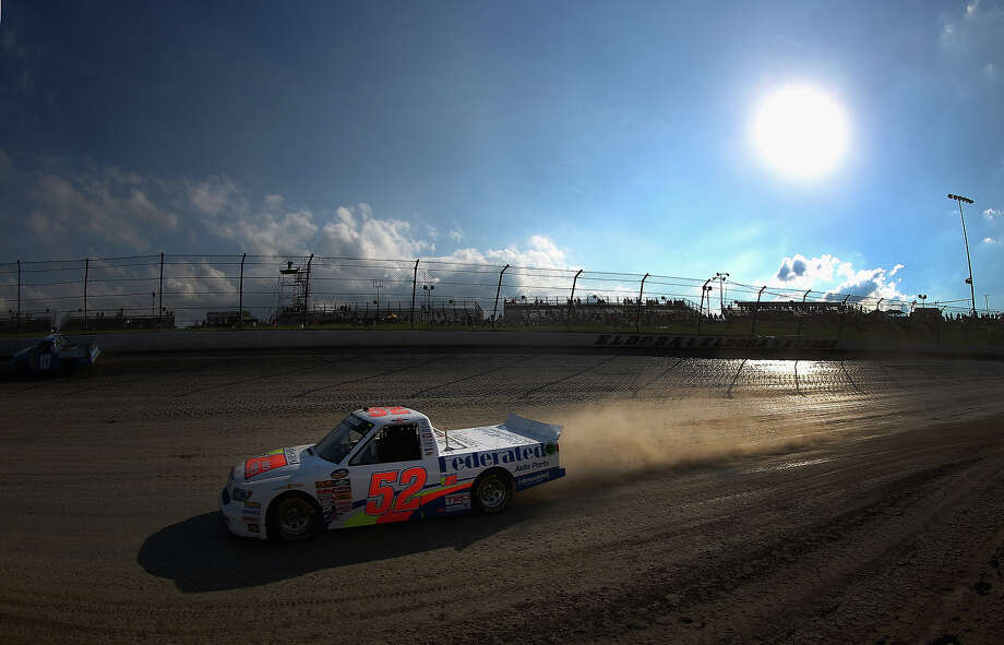 Ken Schrader, drives the #52 Federated Auto Parts Toyota, during practice for the NASCAR Camping World Truck Series inaugural Mudsummer Classic at Eldora Speedway on July 23, 2013 in Rossburg, Ohio. Photo: Tom Pennington, Getty Images / 2013 Getty Images