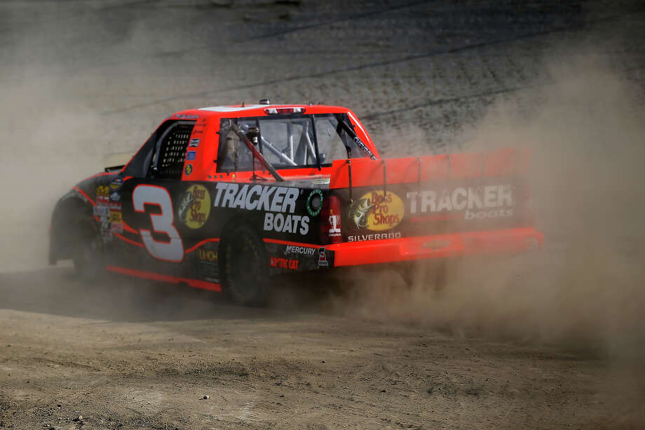 Ty Dillon, driver of the #3 Bass Pro Shops/Tracker Boats Chevrolet, drives on the dirt surface during practice for the NASCAR Camping World Truck Series inaugural CarCash Mudsummer Classic at Eldora Speedway on July 23, 2013 in Rossburg, Ohio. Photo: Chris Graythen, NASCAR Via Getty Images / 2013 NASCAR