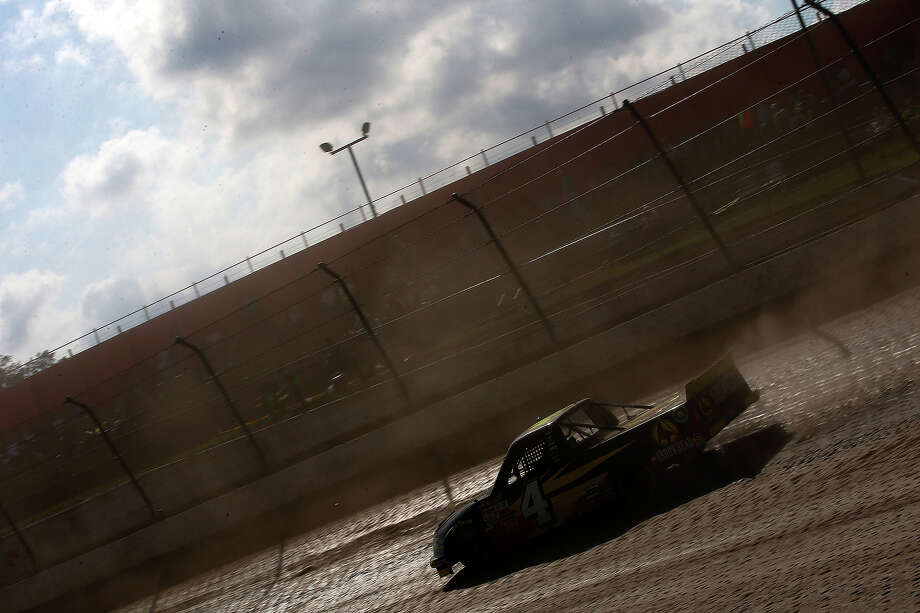 Jeb Burton, driver of the #4 Arrowhead Chevrolet, during practice for the NASCAR Camping World Truck Series inaugural CarCash Mudsummer Classic at Eldora Speedway on July 23, 2013 in Rossburg, Ohio. Photo: Chris Graythen, NASCAR Via Getty Images / 2013 NASCAR