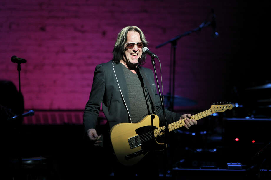 "Todd Rundgren performs during the ""Robert Johnson at 100,"" celebration at the Apollo Theater in New York, March 6, 2012. Many artists, including Rundgren, performed at the Apollo for the event of which the proceeds would go to support building a Blues Hall of Fame in Memphis. (Chang W. Lee/The New York Times) Photo: CHANG W LEE / NYTNS"