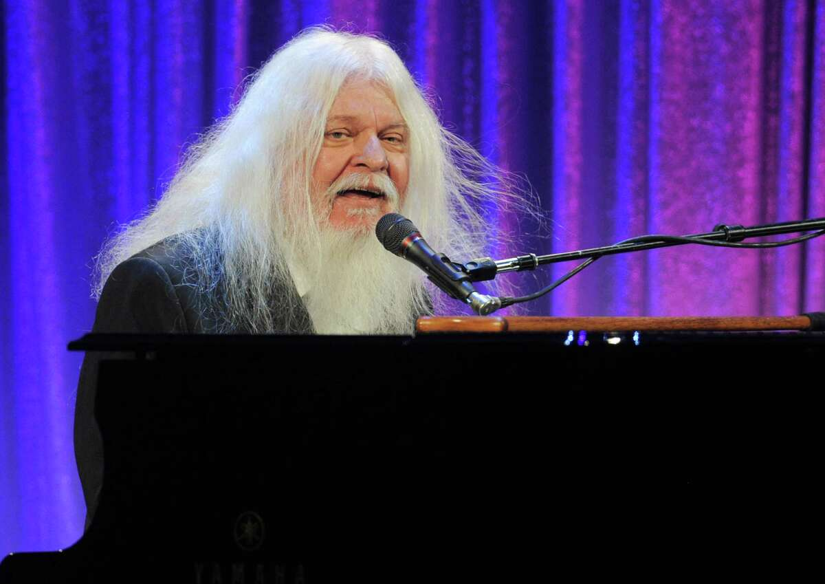 Musician Leon Russell performs at the Ninth Annual Elton John AIDS Foundation benefit 'An Enduring Vision' at Cipriani Wall Street on Monday, Oct. 18, 2010 in New York. (AP Photo/Evan Agostini)