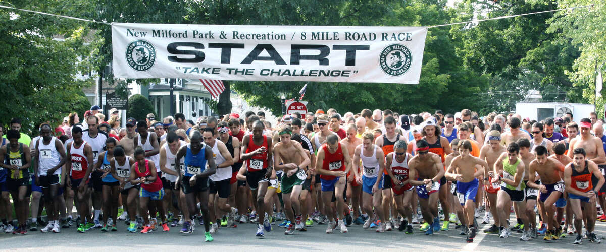 A field of more than 600 road-race hopefuls kicked off for last summer's 45th annual New Milford 8-mile road race and 10th annual Village Fair Days 5K. July 28, 2012.