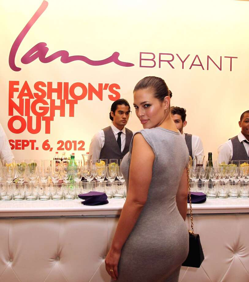 Lane Bryant model and plus size model of the year Ashley Graham at Lane Bryant's Fashion Night Out in Brooklyn, New York September 2012 Photo: Andy Marlin