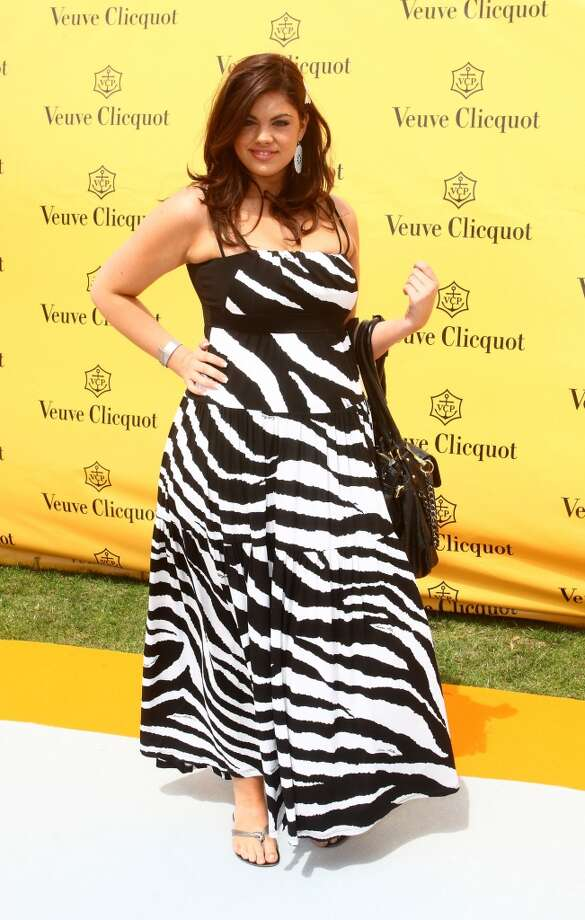 Chloe Marshall arrives at the Veuve Clicquot Gold Cup in Midhurst, England, July 2008 Photo: Mike Marsland, WireImage