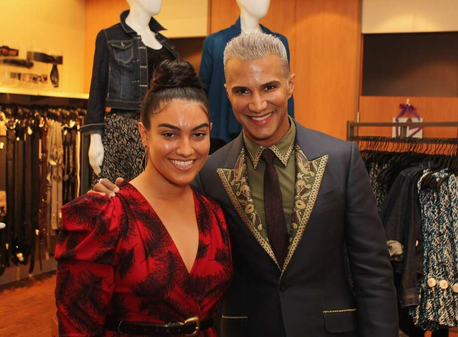 Nadia Aboulhosn (L) and Jay Manuel pose for a photo during Fashion Guru Jay Manuel Hosts Lane Bryant's Fashion Night Out in Brooklyn, New York, September 2012 Photo: Andy Marlin