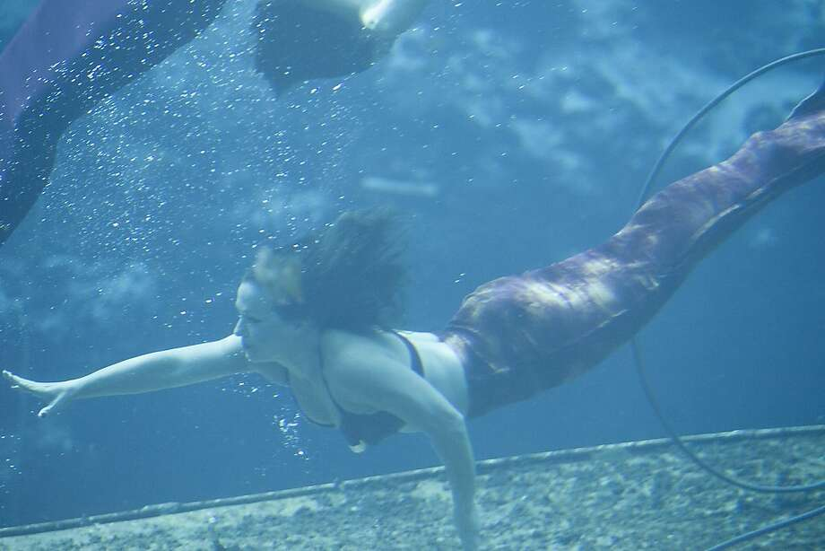 A fish out of water:After 16 years of underwater performances, Marcy Terry is hanging up her tail fin. The 34-year-old star of Weeki Wachee State Springs State Park's mermaid shows has had enough of the life aquatic. Photo: Jones, Octavio, Associated Press