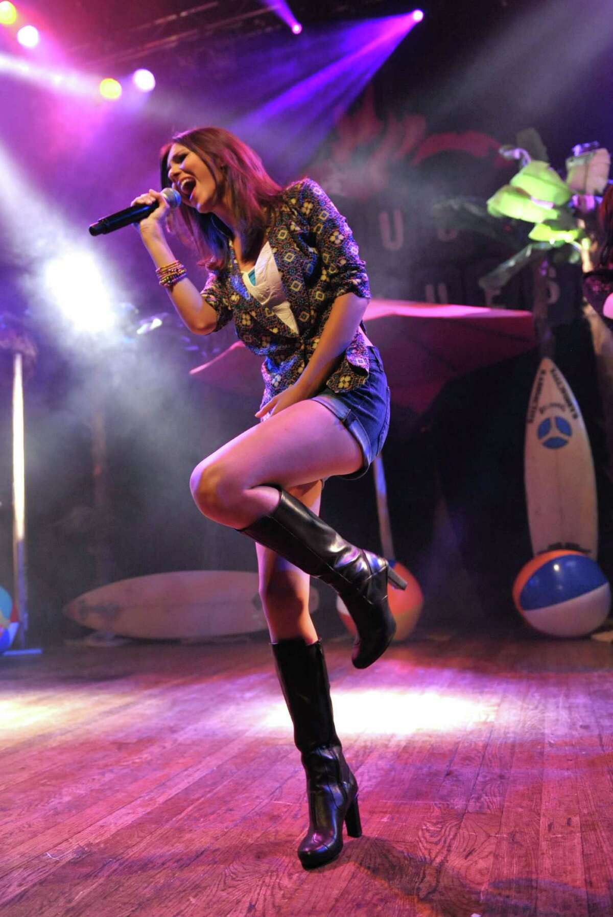 Victoria Justice performs at the House of Blues on Monday, April 1, 2013 in Los Angeles. Big Time Rush and Victoria Justice announced that they will be touring together this summer on the