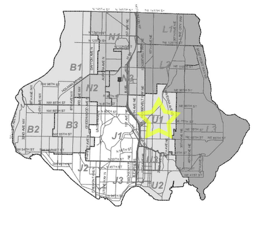 17. U1: Seattle police in this Ravenna area beat have responded to 498 reports of car break-ins since June 2010. Photo: Seattle Police Department Maps