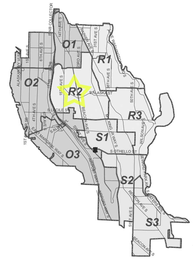 47. R2: Seattle police in this Beacon Hill beat have responded to 235 reports of car break-ins since June 2010. Photo: Seattle Police Department Maps