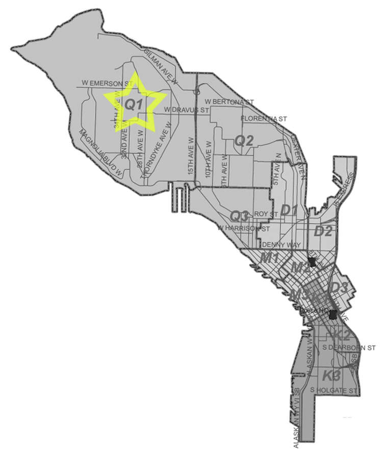 19. Q1: Seattle police in this Magnolia area beat have responded to 470 reports of car break-ins since June 2010. Photo: Seattle Police Department Maps