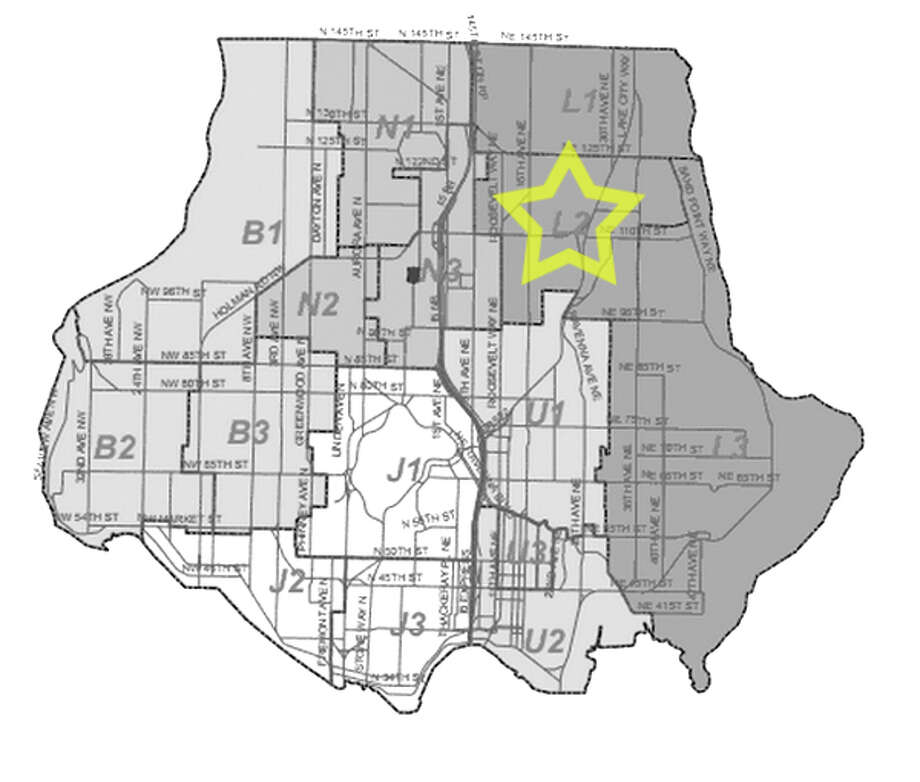 26. L2: Seattle police in this Lake City area beat have responded to 423 reports of car break-ins since June 2010. Photo: Seattle Police Department Maps