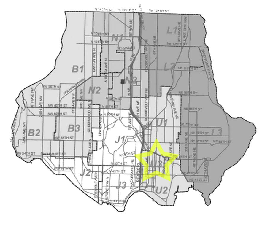 12. U3: Seattle police in this University District area beat have responded to 56 reports of stolen bicycles in the past three years. Photo: Seattle Police Department Maps