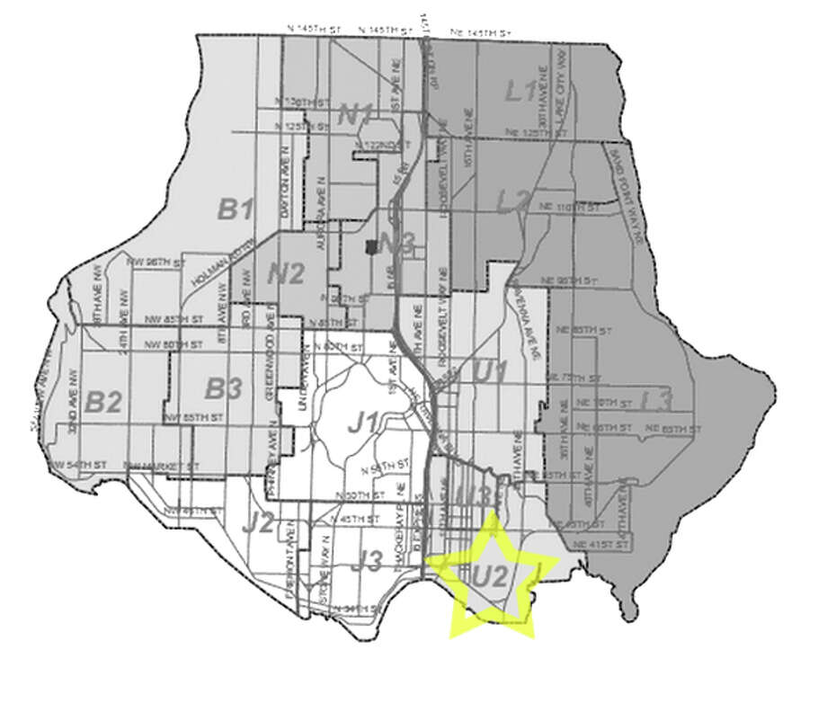 3. U2: Seattle police in this University District beat have responded to 90 reports of stolen bicycles in the past three years. Photo: Seattle Police Department Maps