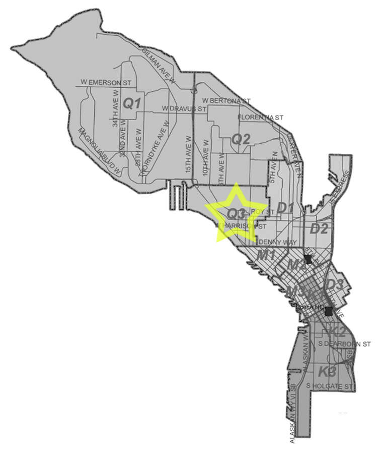 29. Q3: Seattle police in this Interbay area beat have responded to 27 reports of stolen bicycles in the past three years. Photo: Seattle Police Department Maps