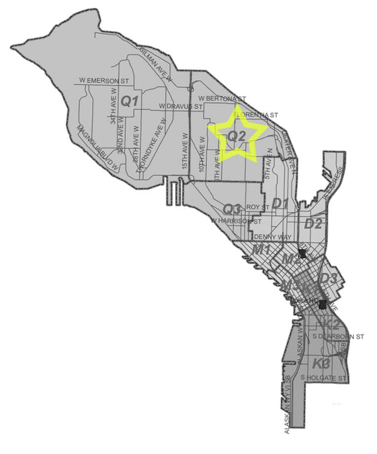 26. Q2: Seattle police in this north Queen Anne beat have responded to 29 reports of stolen bicycles in the past three years. Photo: Seattle Police Department Maps