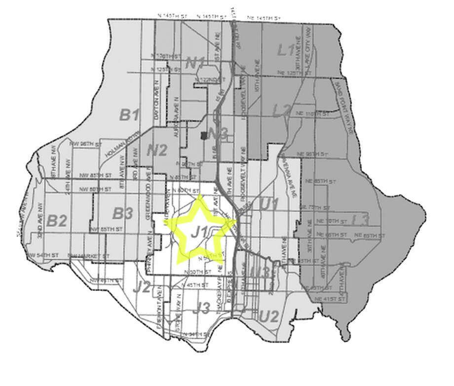 19. J1: Seattle police in this Green Lake area beat have responded to 42 reports of stolen bicycles in the past three years. Photo: Seattle Police Department Maps