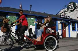 Passengers picked up in front of Pier 23 in San Francisco, Calif., on Monday July 8, 2013.