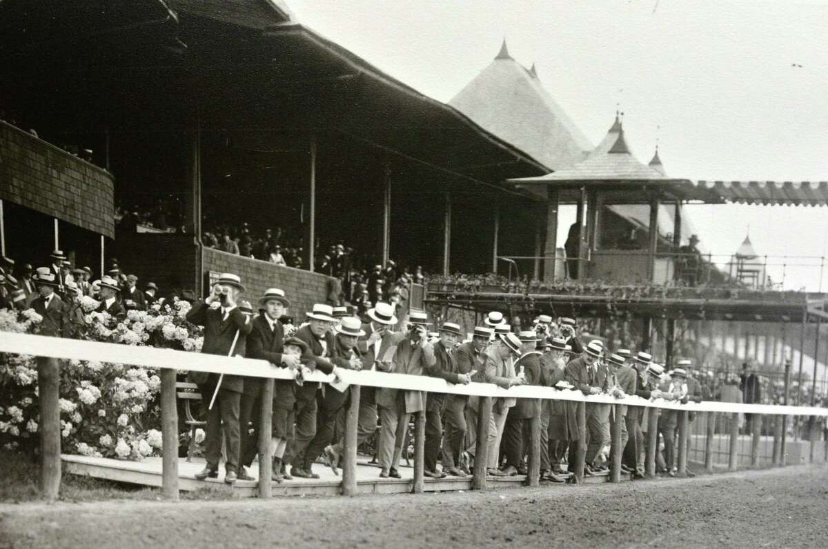 The rail: Saratoga Race Course in Saratoga Springs, N.Y., date unknown. (Courtesy of Saratoga Springs Historical Museum, George S. Bolster collection)