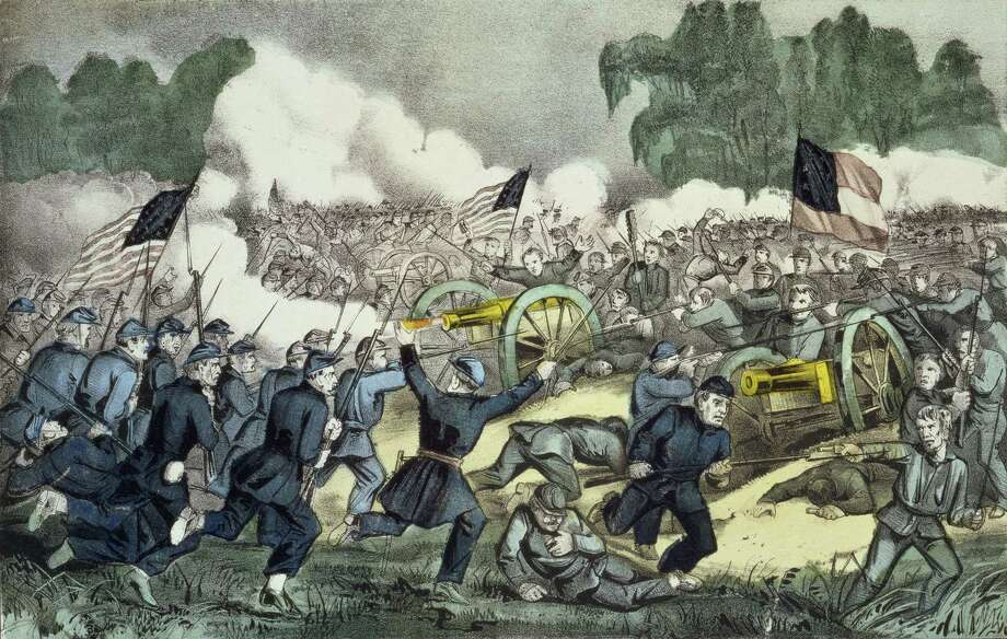 The Battle of Gettysburg, Pennsylvania, July 3rd, 1863, in an undated handout image. Extrapolating from newly digitized census data, a historian suggests about 750,000 died in the conflict, about 20 percent more than previously thought. (Library of Congress via The New York Times) -- EDITORIAL USE ONLY -- Photo: LIBRARY OF CONGRESS / LIBRARY OF CONGRESS