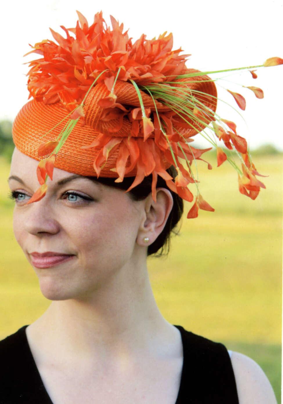 Models show off a decade worth of hats made by Nancy Matt, owner of Le Beau Chapeau Millinery in Loudonville. (Nancy Matt)