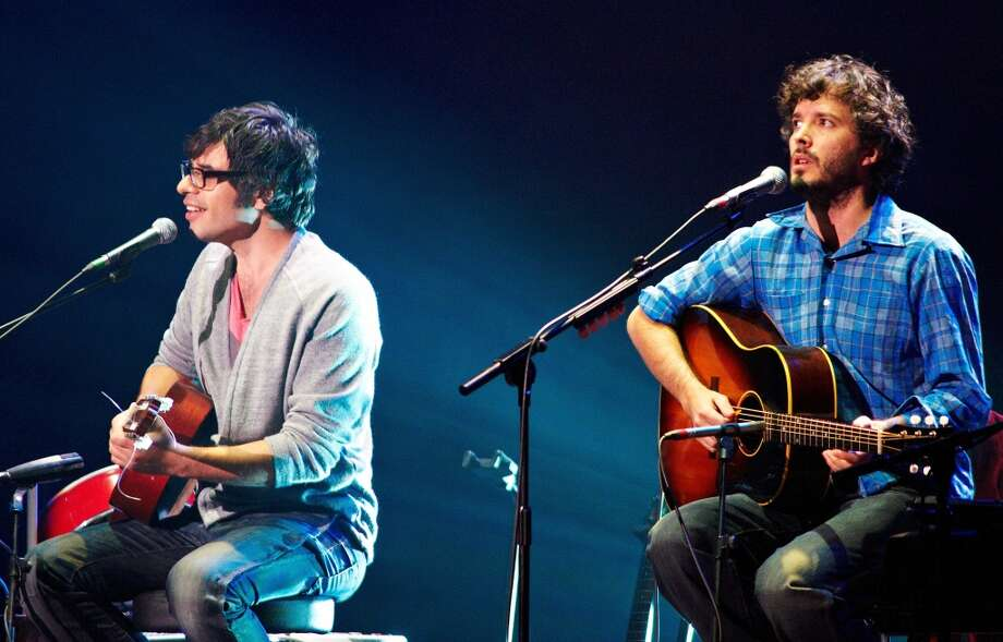 New Zealand parody folk duo Flight of the Conchords have won several comedy awards and will perform in The Woodlands Aug. 24. Photo: Gary Wolstenholme, Redferns