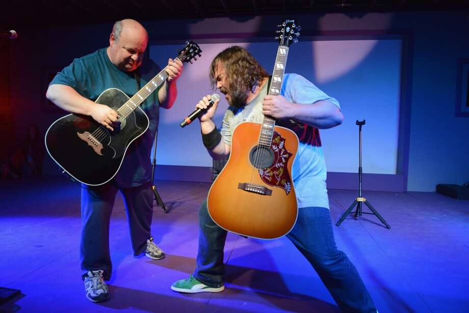 Jack Black and Kyle Gass of Tenacious D poke fun at rock n' roll with dramatic flair. Photo: Amy E. Price