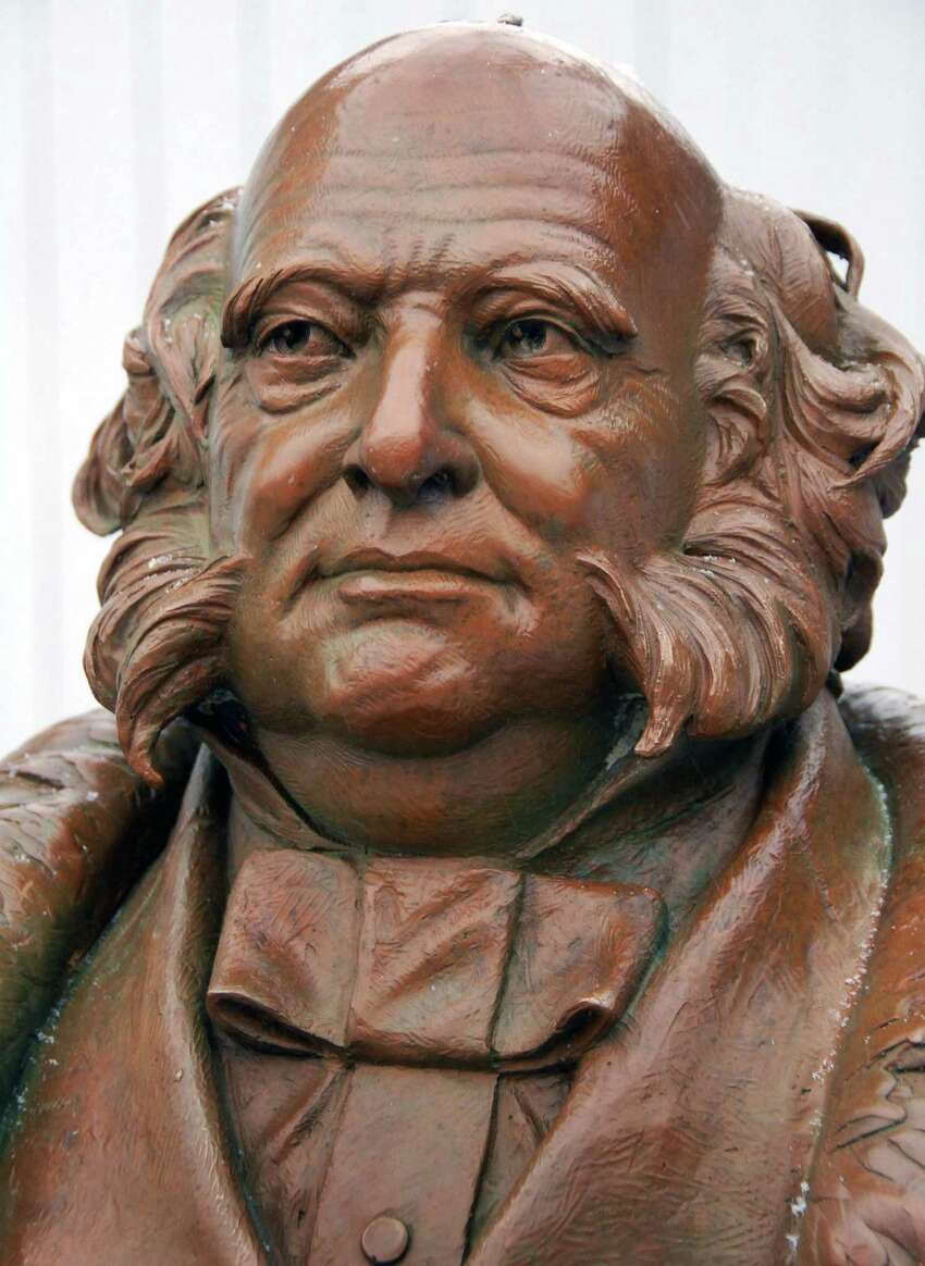 Times Union staff photo by John Carl D'Annibale: Detail of a bronze statue of the 8th President of the United States, Martin Van Buren,in Kinderhook Wednesday afternoon December 5, 2007. Bronze is the work of sculptor Edward Hlavka. FOR CROWE STORY