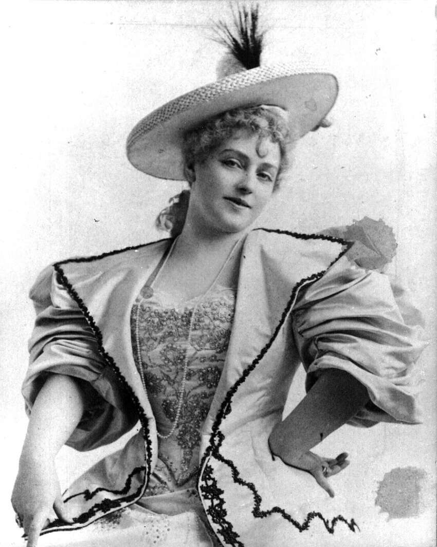 An early photo of singer Lillian Russell, popular in the late 19th century. Russell was a frequent visitor to Saratoga Springs. From the Geroge S. Bolster Photographic Collection of the Historical Society of Saratoga Springs.