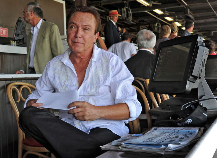 Actor/Singer David Cassidy sits in the clubhouse at the Saratoga Race Course in Saratoga Springs, NY