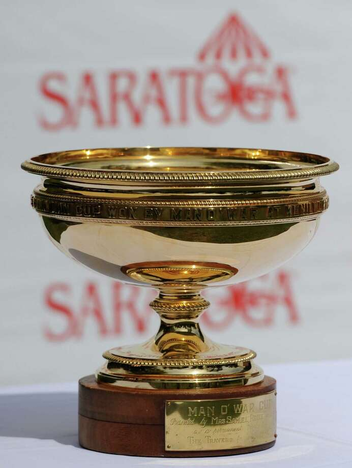 The Man o' War trophy on display during the Post Position Draw Aug 24, 2011,  for 142rd Travers Stakes. (Skip Dickstein / Times Union) Photo: SKIP DICKSTEIN