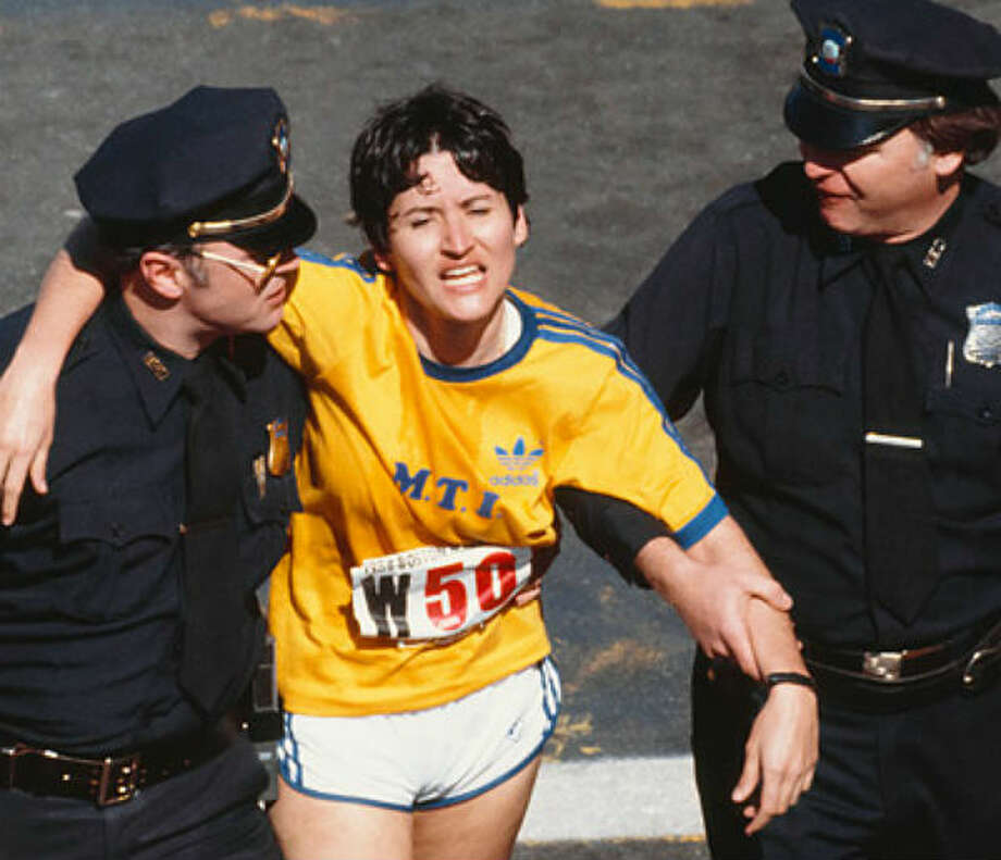 Rosie Ruiz was the first women to cross the finish line in the 1980 Boston Marathon. She lost her title when it was found she didn't run the whole couse.