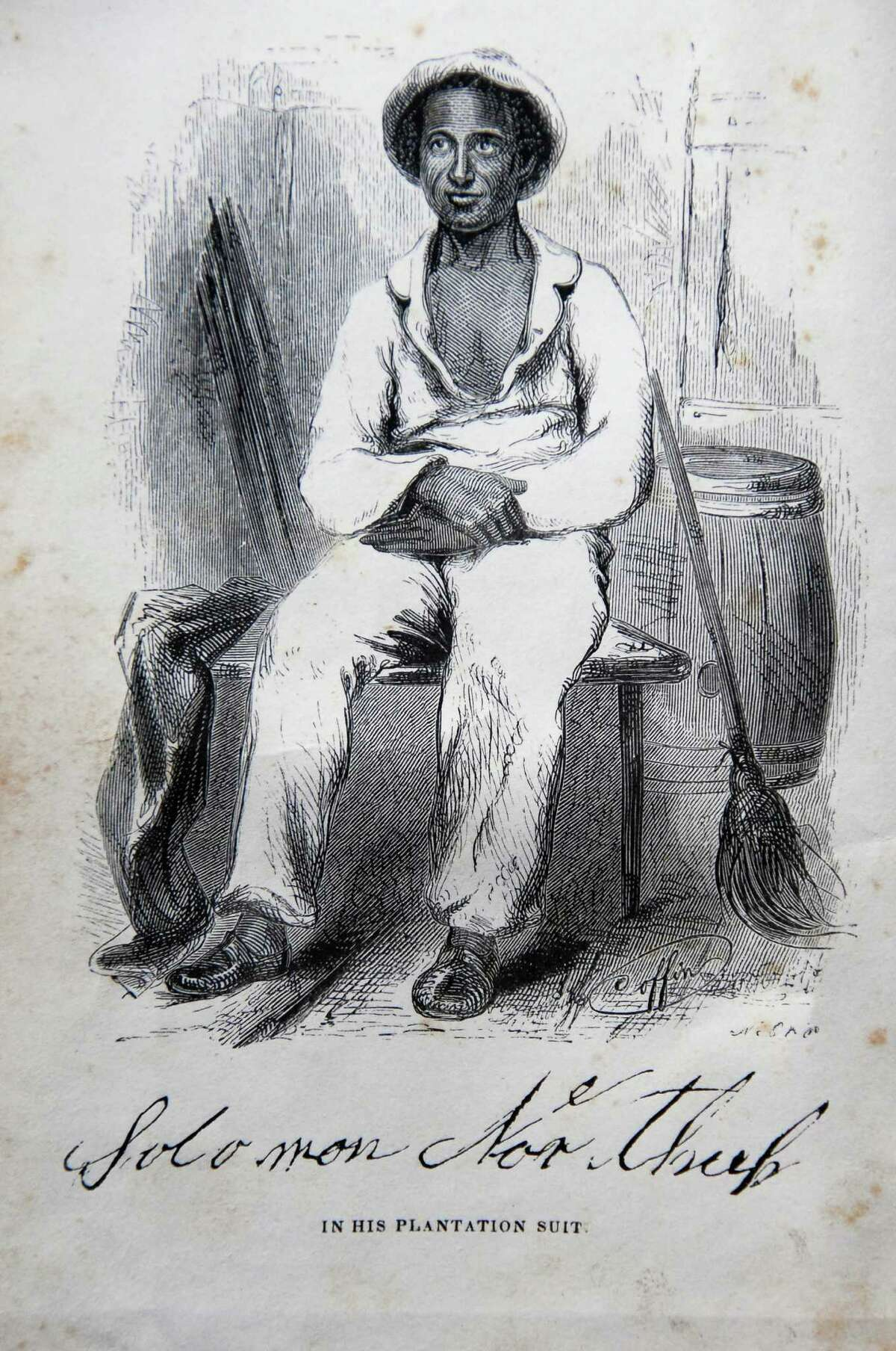 Times Union staff photo by John Carl D'Annibale: Illustration of Solomon Northrup from his 1853, autobiography